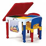 Tot Tutors 2-in-1 Construction Table and Chair Set $30