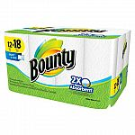 24-Count Bounty Giant Roll Paper Towels + $5 Target Gift Card $25