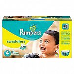 Pampers Swaddlers $30, Pampers Baby Dry $30, Pampers Cruisers $30