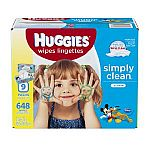 648-Count Huggies Simply Clean Fresh Scent Baby Wipes in Soft Pack $8.30