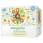 Babyganics Baby Wipes 400-Count $7.49, Diapers Value Pack $14