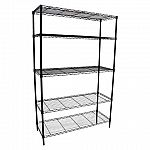 "Room Essentials Adjustable 72"" x 48"" x 18"" 5-Tier Wire Wide Shelving Unit $48"