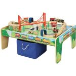 Wooden 50-Piece Train Set with Small Table $41 & more