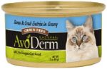 AvoDerm Natural Entree Tuna and Crab in Gravy for Cats, 3 Oz Cans, Case of 24 $6