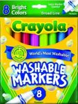 8-Count Crayola Washable Bright Markers $0.97