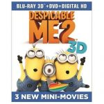 Despicable Me 2 (3D Blu-ray + 2D Blu-ray + DVD) $15