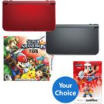 New Nintendo 3DS XL Handheld with Super Smash Bros Game and Choice of Amiibo $220