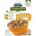 Cascadian Farm Organic Cereal, Cinnamon Crunch,9.2 Oz + free sample organic granola $2.72