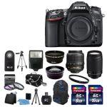 Nikon D7100 Digital SLR Camera w 4 Lens Complete DSLR Kit $1,000
