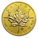 2015 1 oz Gold Canadian Maple Leaf Brilliant Uncirculated $1202 and more
