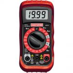 Craftsman Multimeter, Digital, with 8 Functions and 20 Ranges $10