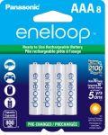 8-Pack Panasonic Eneloop AAA Pre-Charged Rechargeable Batteries $15