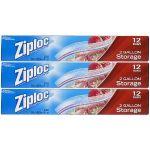 Ziploc Storage Bags 2 Gallon, 36 Count $10.47