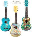 Luna Guitars Aurora Ukulele Half-Size Guitar $29
