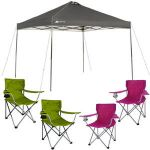 Ozark Trail Instant Canopy + 4 Folding Quad Arm Chairs $79
