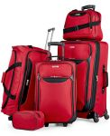 Tag Springfield III 5 Piece Luggage Set (Red, Blue) $60
