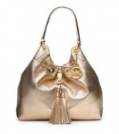 Camden Large Metallic-Leather Drawstring Shoulder Bag $199 and more