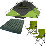 Ozark Trail 4-Person Instant Dome Tent + 2 Chairs + Queen Airbed w/ Pump $79
