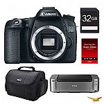 Canon EOS 70D Digital SLR Camera Body + PRO-100 Printer + Paper + Camera Bag more $698 (AR)