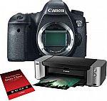Canon EOS 6D DSLR Camera Body + PRO-100 Printer + Paper + Lowepro Bag + 32GB Card $1100 AR