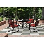 Ft. Walton 5-Piece Patio Dining Set, Black, Seats 4 $199