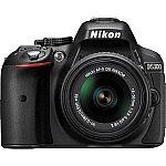 Nikon D5300 DSLR w/ 18-55mm f/3.5-5.6G VR II Lens (Refurbished) $489