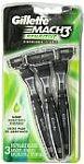 3-Count Gillette Mach3 Sensitive Disposable Razor for Men $2.31