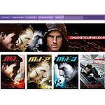 Mission Impossible Quadrilogy Ultraviolet HD (Digital Movie) Free