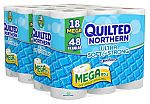 36 Mega Rolls Quilted Northern Ultra Soft and Strong Bath Tissue $16