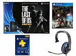 SONY PS4 Last of Us Bundle + Silver Headset + 3 Months PS Card + PS4 Lara Craft $399