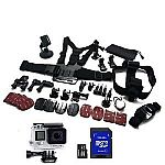 GoPro HERO4 Silver Camera + 25 Pc. GoPro Accessory Kit & 16GB SDHC Card Bundle $370