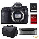 Canon EOS 6D DSLR Camera Body + Pro-100 Printer + Paper and more $1198 AR