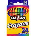 24ct Cra-Z-Art Crayons, $0.25, 24ct Crayola Crayons $0.50 & more