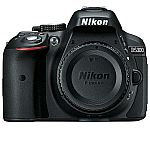 Nikon D5300 24.2 MP CMOS Digital SLR Camera w/ Built-in Wi-Fi and GPS Body Black $379