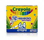 Crayola Washable Pip-Squeaks Skinnies Markers, 64 colors $8.50