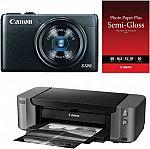 Canon PowerShot S120 12MP Digital Camera + PIXMA PRO-10 Printer Kit $349 AR