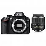 Nikon D3200 Digital SLR Camera Body + NIKKOR 18-55mm VR Lens DSLR Kit $299