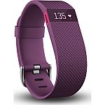 Fitbit Charge HR Wireless Activity Wristband, (Black/Plum, Large and Small) $120