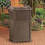Suncast Resin Wicker Trash Hideaway or Hose Hideaway $28