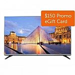 LG 43LF5400 43-Inch 1080p LED TV (2015 Model) + $150 Dell Promo eGift Card $350