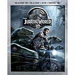 Jurassic World 3D (Blu-ray 3D + Blu-ray + DVD + DIGITAL HD) + $5 Amazon Credit $25