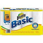 2X of 12 Bounty Basic Select-A-Size White Paper Towels + $5 Gift Card $19