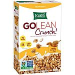 4-Pack Kashi GOLEAN Crunch! Cereal, Honey Almond Flax (14-Ounce) $2.30