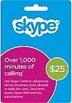 Skype - $25 Prepaid Card $17.49