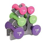 Tone Fitness 20-Pound Dumbbell Set with Stand $21.11 & more