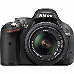 Nikon D5200 24.1 MP CMOS Digital SLR with 18-55mm AF-S DX VR Lens Black (NEW) $339