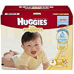 Huggies Little Snugglers Diapers, Size 2, 186 Count $27.59 and  more