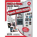 Freez-A-Frame 34425 Magnetic Photo Frames Set (4) 4x6 & (2) 5x7 $5