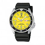 Seiko Mens Yellow Dial Automatic Divers Watch SKXA35 $145
