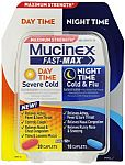 30-Count Mucinex Fast-Max Adult Day and Night Caplets $9.32